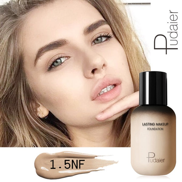 Pudaier Professional Face Foundation Makeup Full Coverage Liquid Foundation Cream Matte Foundation Base Face Concealer Cosmetic