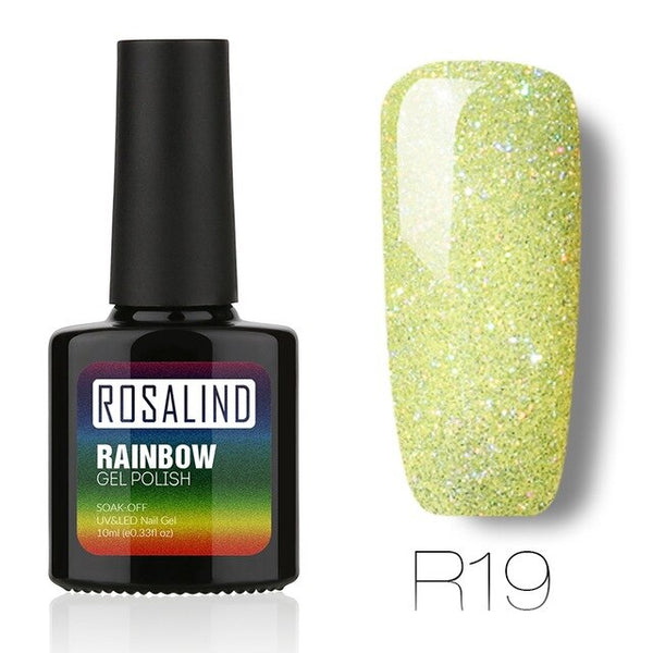 NEW 10ml Gel Nail Polish Rainbow Shimmer for Nail Art Manicure Long-Lasting UV LED Gel Varnish