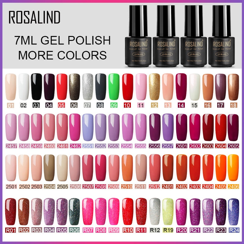 7ml Gel Polish Nail Art Gel Nail Polish Set For Manicure Soak Off White Primer Semi Permanent UV Gel Hybrid Lacquer