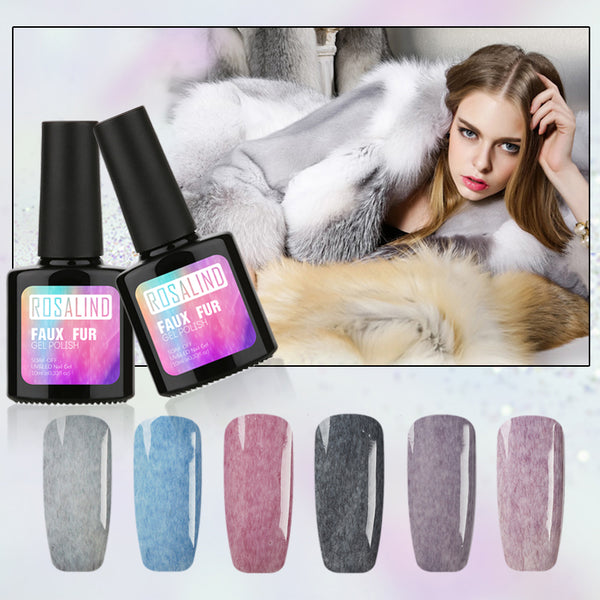 Gel 1s 10ML Faux Fur Effect Gel Nail Art Long-Lasting 3D Gel lacquer