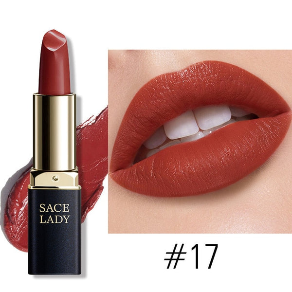 18 Colors Silky Matte Lipstick Makeup Waterproof Nude Velvet Lip Stick Make Up Smooth High Pigmented Texture Cosmetic