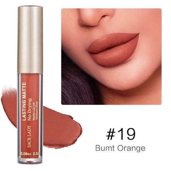 SACE LADY 23 Colors Liquid Lipstick Makeup Non Drying Matte Lip Stick Long Lasting Nude Lip Gloss Tint Natural Brand Cosmetic