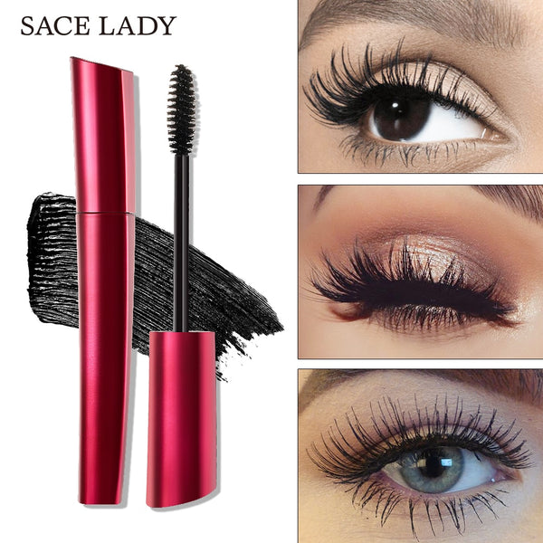 SACE LADY 4D Silk Fiber Lash Mascara Curling Thick Eyelash Waterproof 3d Rimel Extension Make Up Volume Natural Eyelash Cosmetic