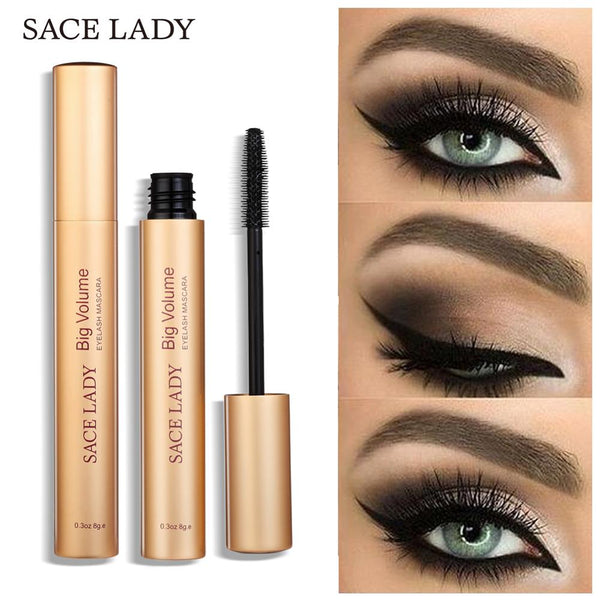 SACE LADY Black Mascara Waterproof Volume Eyelash Curling Makeup Thick Eye Lashes Professional Rimel Make Up Natural Cosmetic
