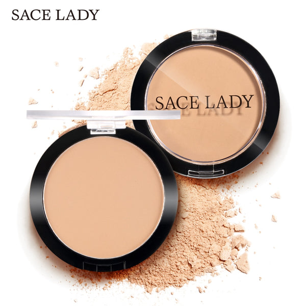 SACE LADY Compact powder Pores Invisible Translucent Makeup Silky Smooth Pressed Powder Natural Finish Long Lasting Setting
