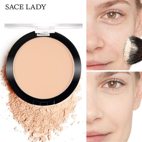 SACE LADY Face Powder Matte Makeup Pressed Translucent Natural Foundation Make Up Long Lasting Oil-control Compact Cosmetic