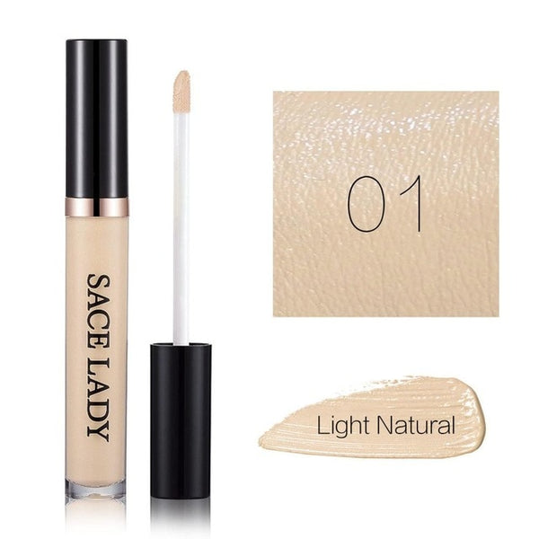 SACE LADY Full Cover Liquid Concealer Makeup For Face Eye Dark Circles Corrector Cream Make Up Facial Base Natural Cosmetic