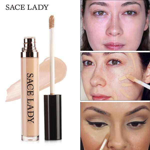 SACE LADY Full Cover Pro Concealer Cream Makeup Face Corrector Liquid Make Up Base For Eye Dark Circles Facial Natural Cosmetic