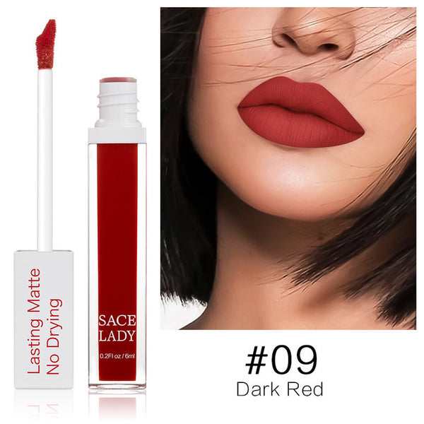 Long Lasting Lipstick Make Up Matte Liquid Lip Stick Non Drying Makeup Nude Red Pigment Waterproof 23 Colors Cosmetic