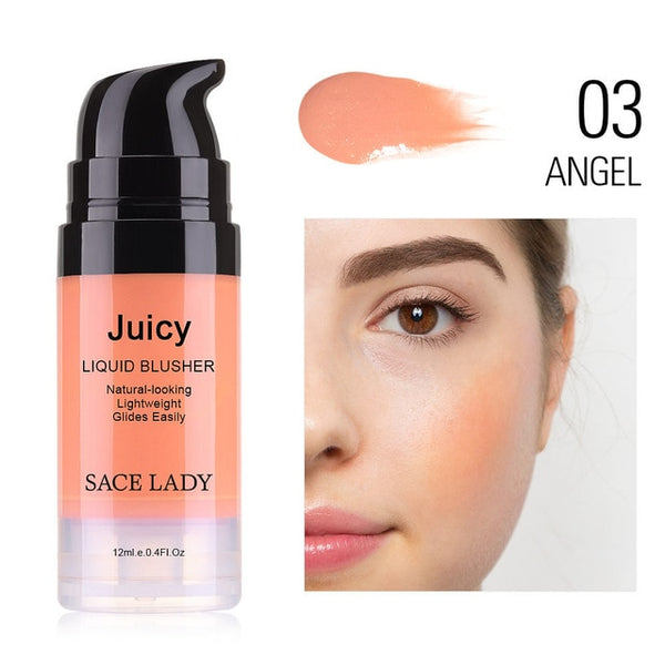 SACE LADY Makeup Liquid Blush 6 Colors Face Rouge Make Up Professional Natural Cheek Blusher Long Lasting Glow Cosmetic