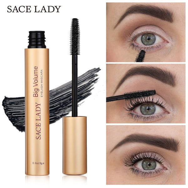SACE LADY Mascara Makeup Brand Curling Thick Black Eye Lashes Rimel Professional Make Up Volume Natural Eyelash Cosmetic