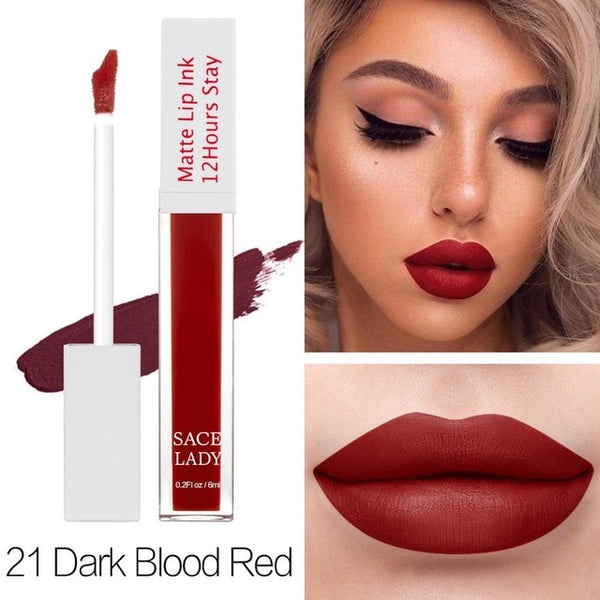 Matte Lipstick Makeup 23 Color Long Lasting Liquid Lip Stick Nude Lip Tint Make Up Waterproof Lip Gloss Brand Cosmetic