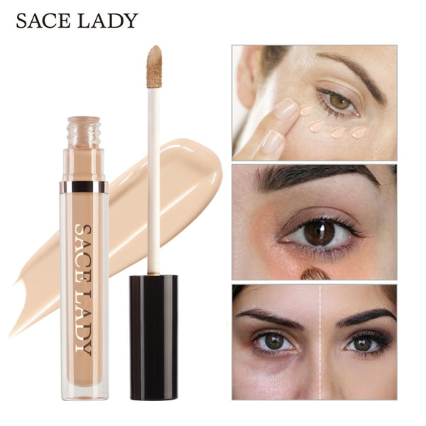 SACE LADY Pro Concealer Makeup Full Cover for Eye Dark Circle Face Corrector Cream Liquid Eye Primer Base Make Up Brand Cosmetic
