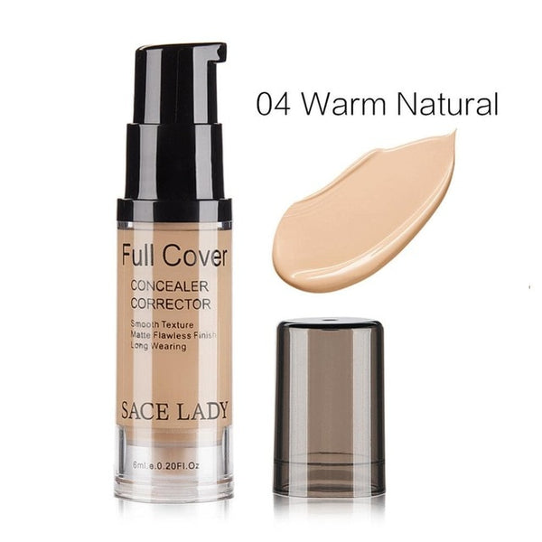 SACE LADY Professional Eye Concealer Makeup Base 6ml Full Cover for Eye Dark Circle Face Liquid Corrector Cream Make Up Cosmetic