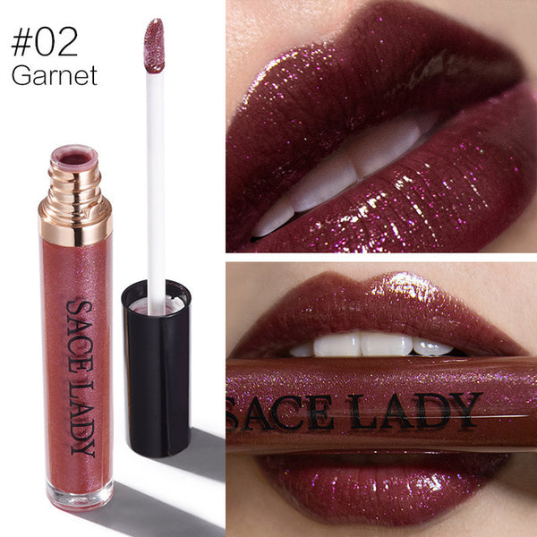 SACE LADY Shimmer Lipstick Tint Moisturizing Glitter Makeup Liquid Lip Gloss Pomade Make Up 4 Colors Shine Paint Brand Cosmetic