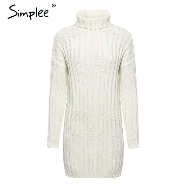 Elegant knitted dress women