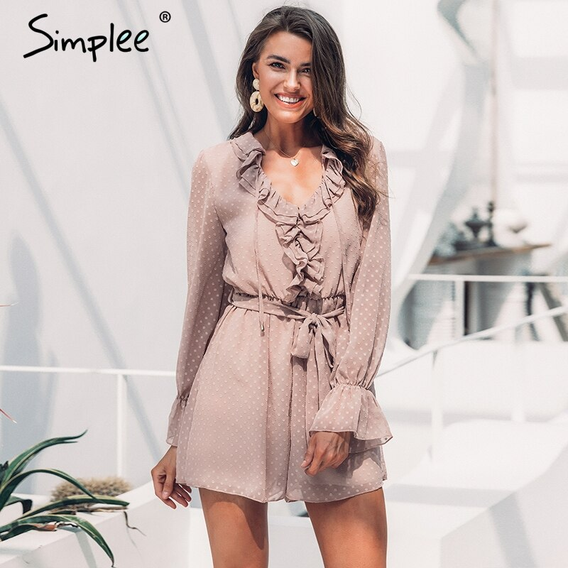 women play suit Sexy v-neck