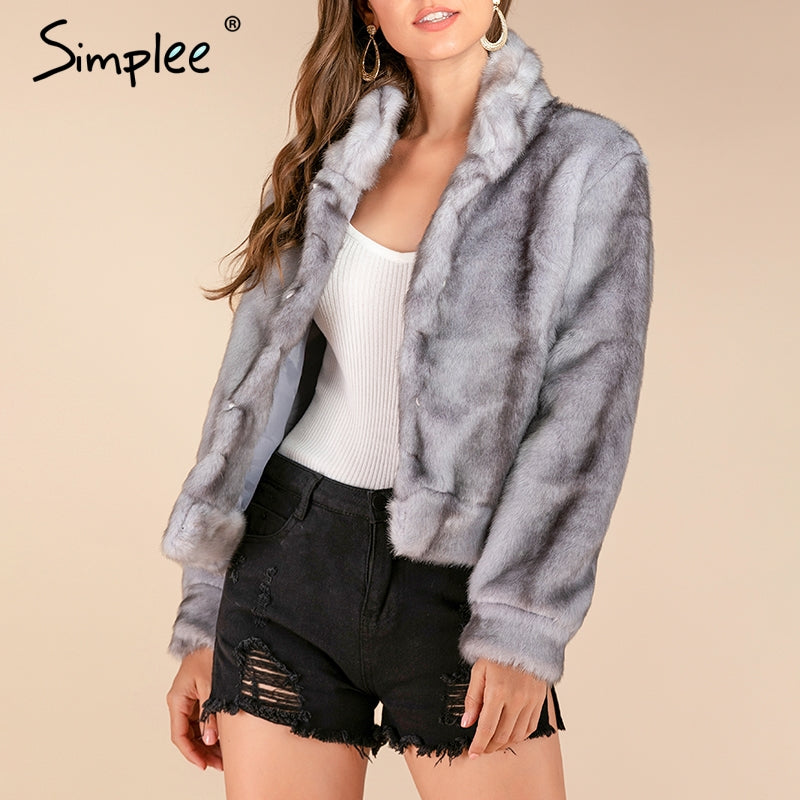 New Luxury faux fur women thick coat