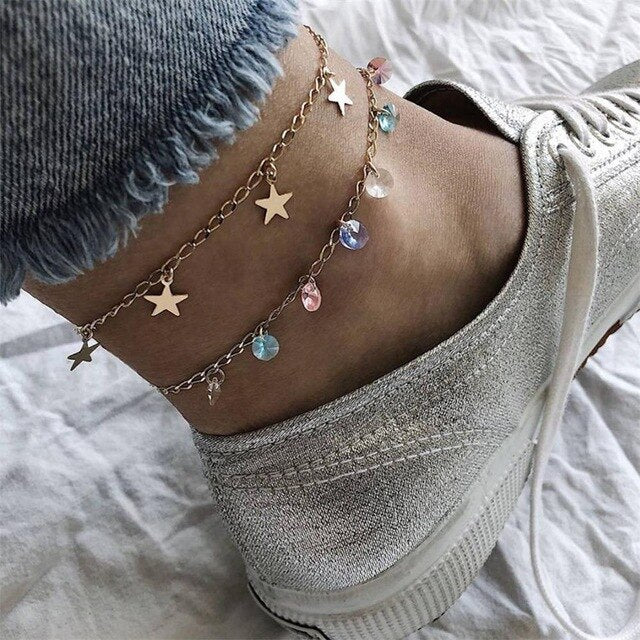 Women Fashion Anklet Charm Beach Party Jewelry Accessories Lover Gift