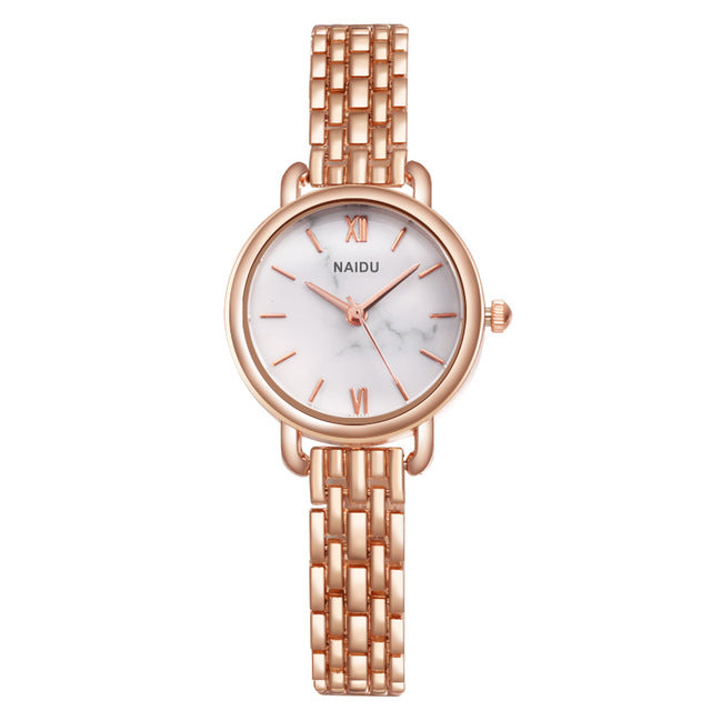 Women Watches New  Rose gold Silver Ladies Bracelet Watch