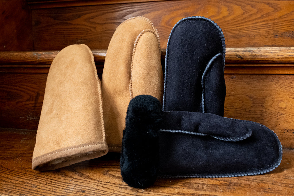 real genuine sheepskin mittens made in Canada