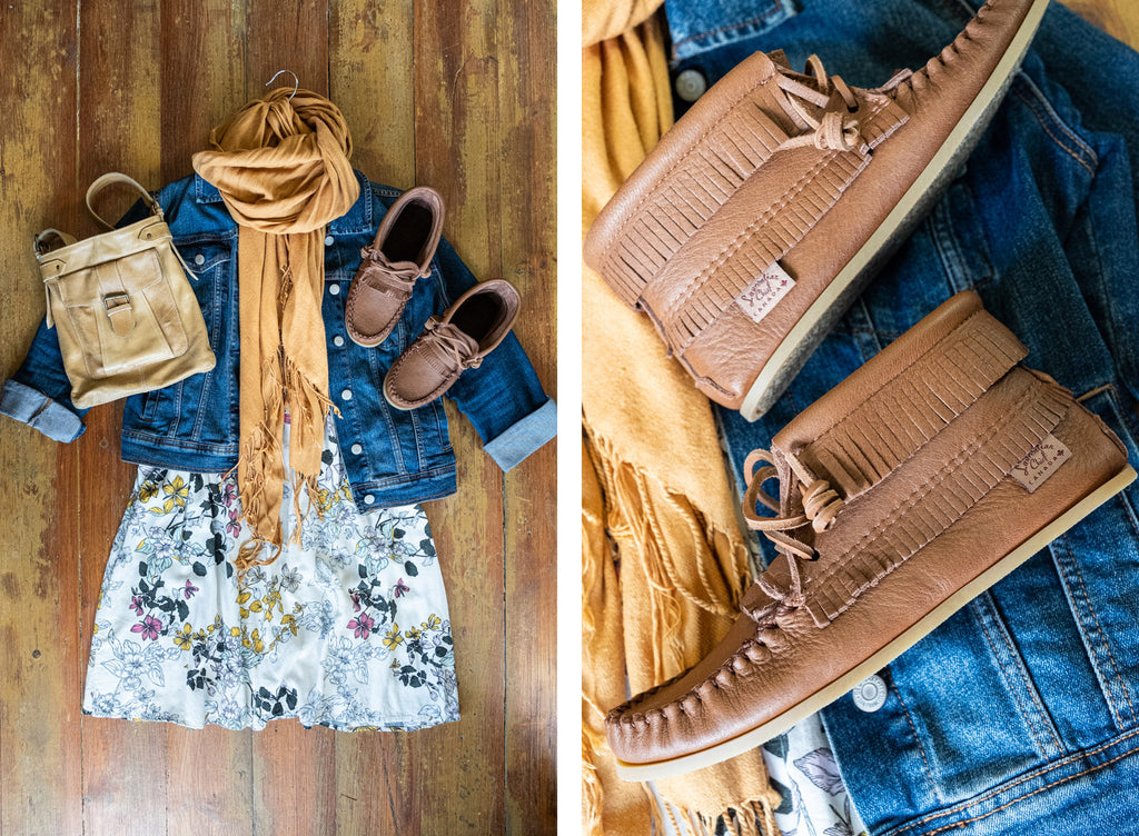 moccasin style outfit with mocs fringes