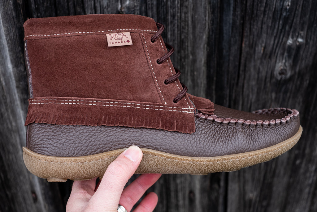 men's quality canada made moccasin boots