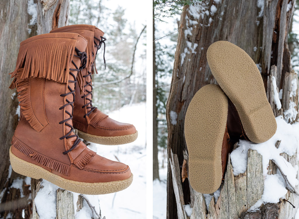 quality durable men's winter moccasins winter boots knee-high