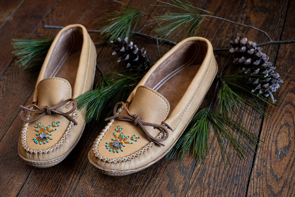 Men's beaded moccasins authentic