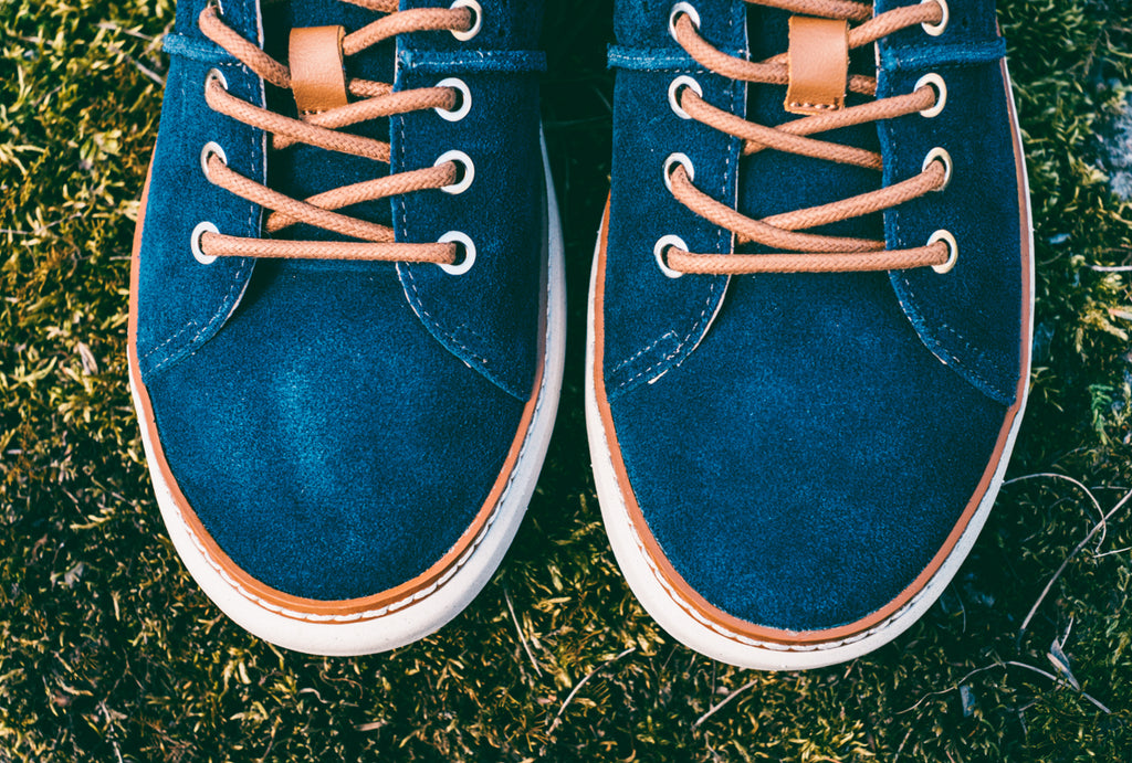 blue suede shoes for women