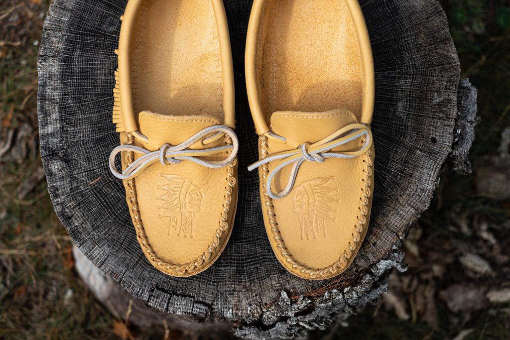 earthy natural moccasins for grounding and earthing
