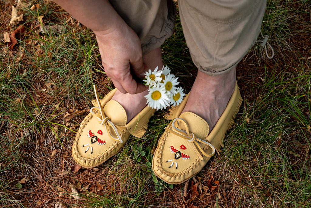 beaded moccasins for babies