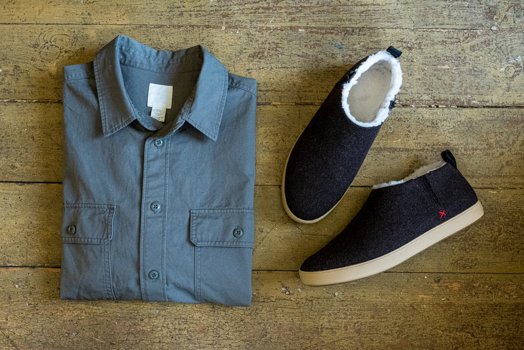 Go-to clothes for the fall including xtratuf felt wool deck shoes