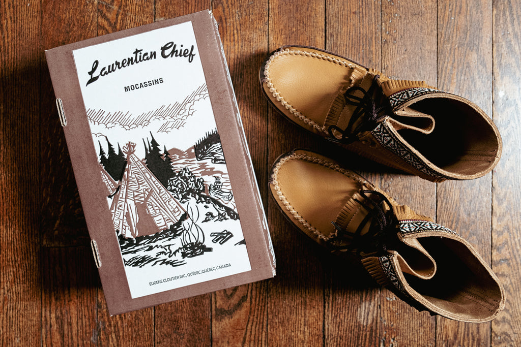 Men's moccasin boots by Laurentian Chief made in Canada