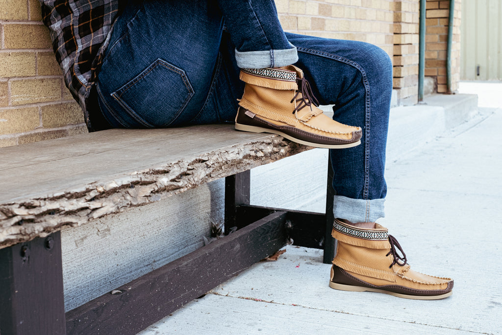 men's stylish moccasin boots