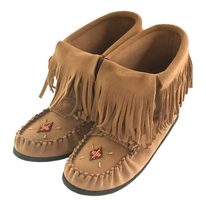7f3cfa115f9 Comfortable Stylish Authentic Native Handmade Leather Moccasin Boots ...