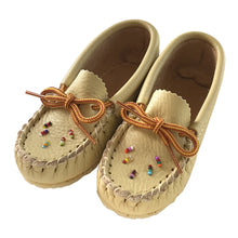 Children's Beaded Leather Moccasin Shoes