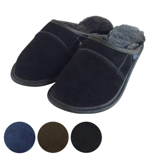 Men's Clearance Garneau Sheepskin Slip On Slippers w EVA Sole (M only 9-10)