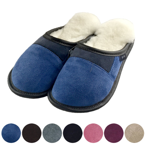 Women's FINAL CLEARANCE Garneau Sheepskin Slip On Slippers (XS & XL w EVA ONLY)