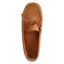 Men's Tan Wide Leather Moccasins