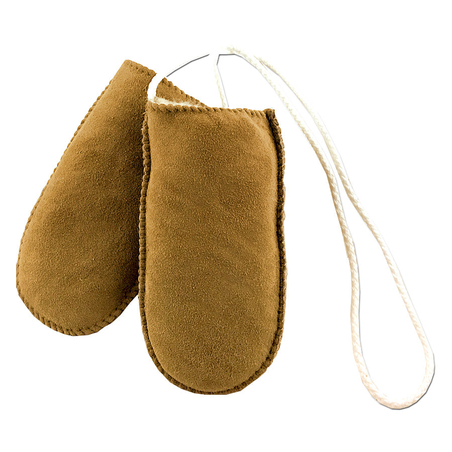 4119b717a458 Baby Thumbless Real Sheepskin Mittens On a String One Size Fits All ...