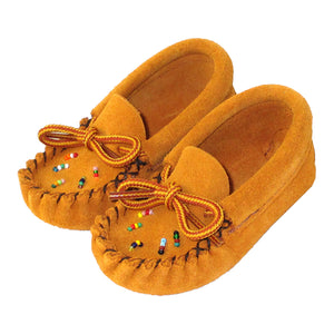 Baby Beaded Suede Moccasins