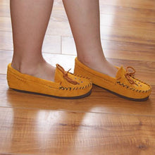 Children's Beaded Suede Moccasin Shoes