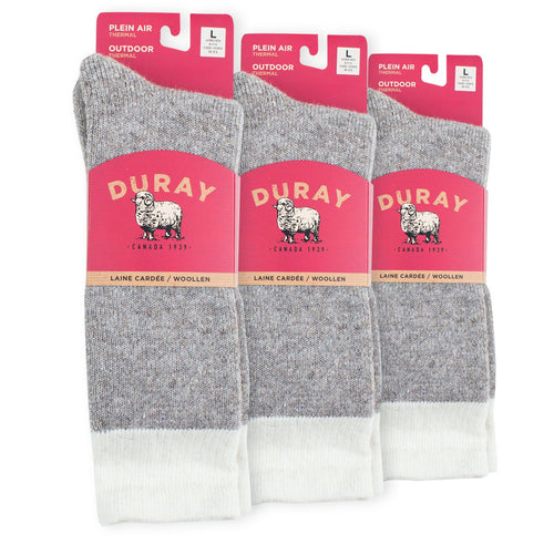 Men's & Women's Boreal Thermal Wool Socks 3 Pack