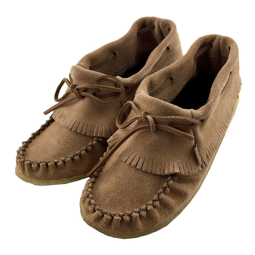 Women's Suede Fringed Moccasin Shoes (SIZE 5 ONLY)