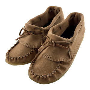 Women's Suede Fringed Moccasin Shoes