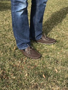 Men's Moose Hide Leather Moccasin Shoes