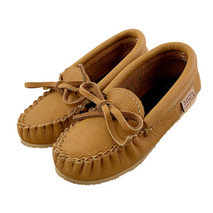 Junior Size Children's Leather Moccasin Shoes