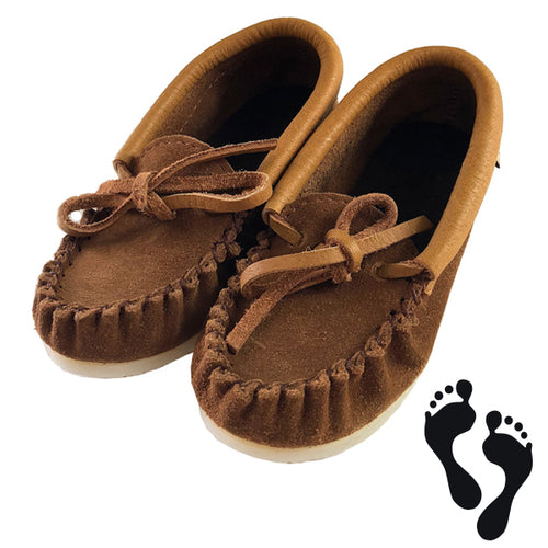 Junior Size Children's Suede Moccasin Shoes