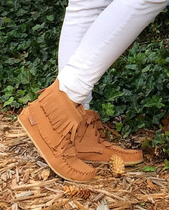 Women's Suede Moccasin Boots